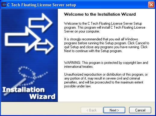 Installing C Tech Floating License Server